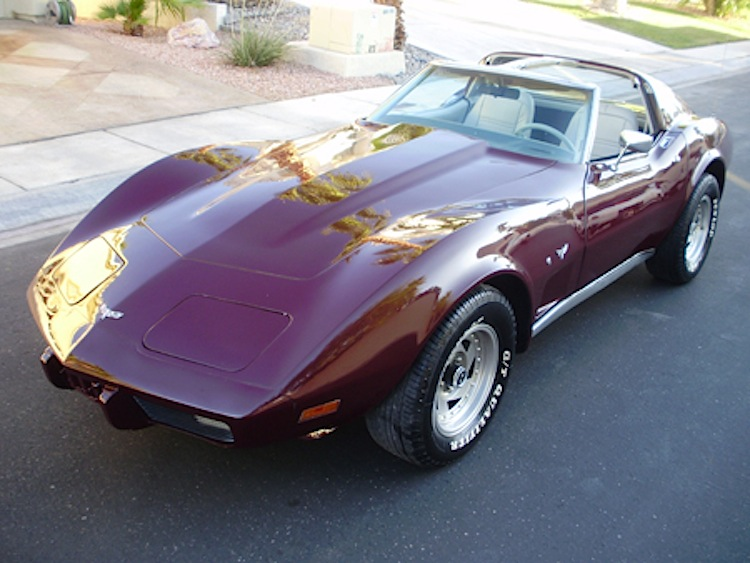 Dark Red 1977 GM Chevrolet Corvette