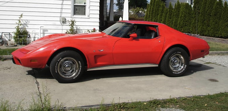 Medium Red 1977 GM Chevrolet Corvette