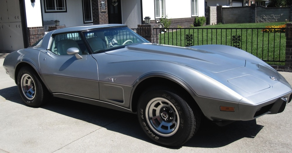 Silver 1978 GM Chevrolet Corvette