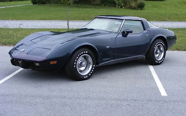 Dark Blue 1978 GM Chevrolet Corvette