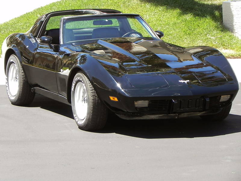 Black 1979 GM Corvette