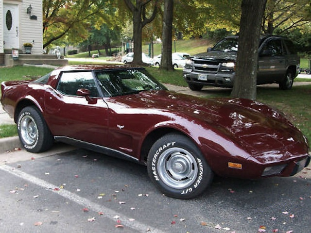 Dark Red 1979 GM Chevrolet Corvette