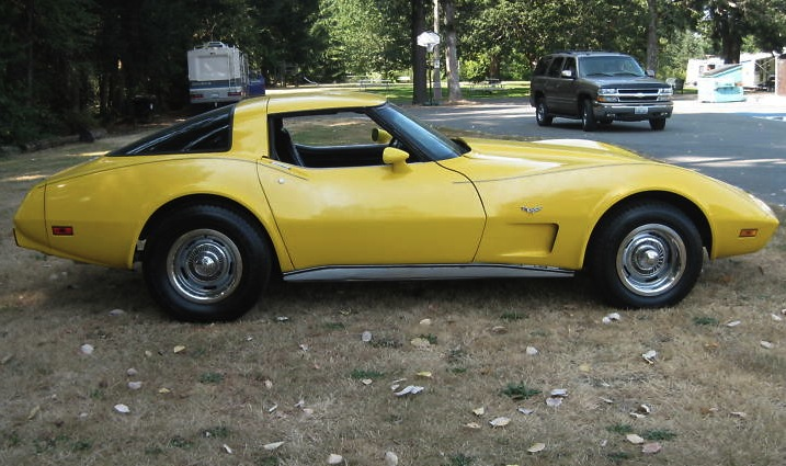 Yellow 1979 GM Chevrolet Corvette