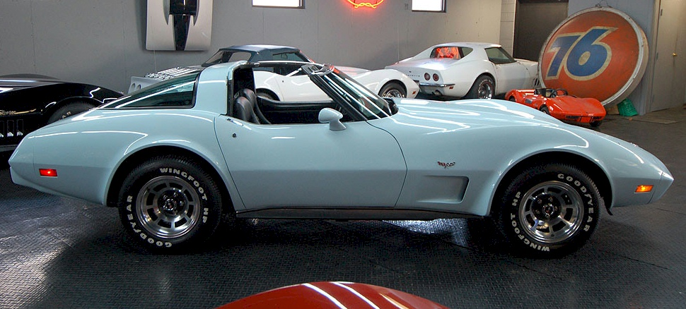Frost Blue 1979 GM Corvette