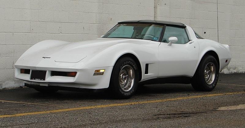 Classic White 1980 GM Chevrolet Corvette