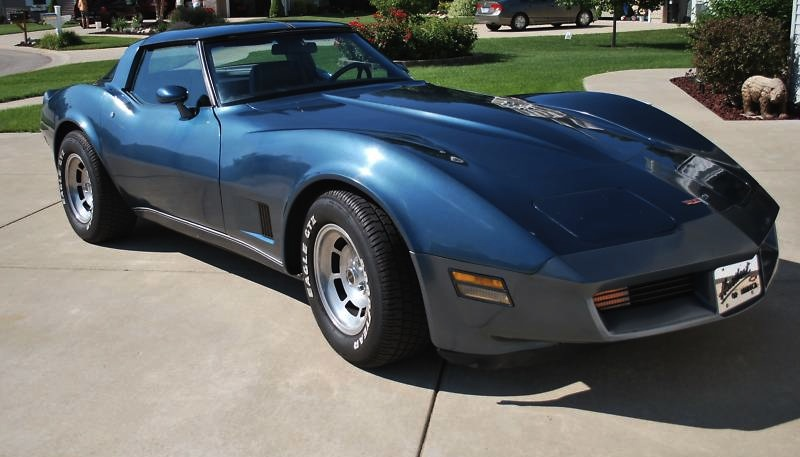 Dark Blue 1980 GM Chevrolet Corvette