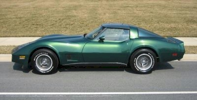 Dark Green 1980 GM Chevrolet Corvette