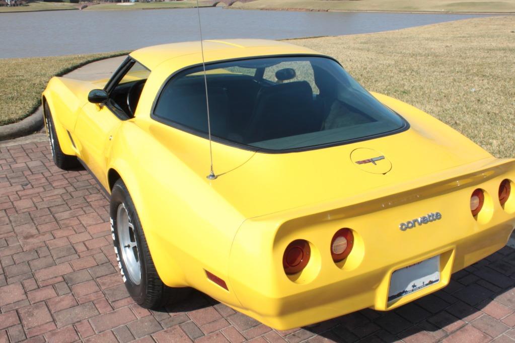 Yellow 1981 GM Chevrolet Corvette