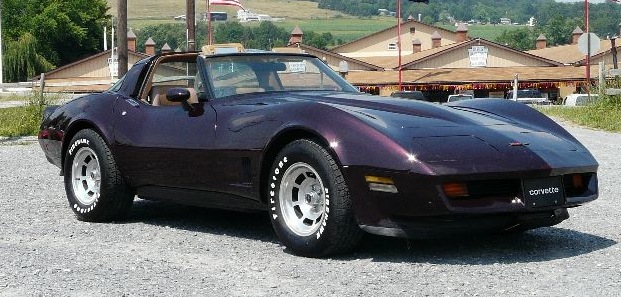 Dark Claret 1981 GM Chevrolet Corvette