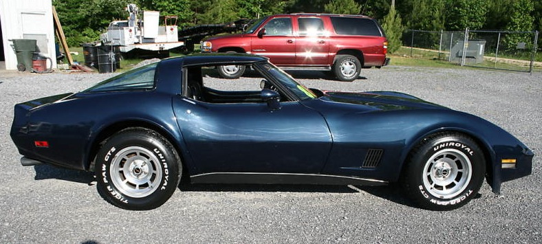 Dark Blue 1981 GM Chevrolet Corvette