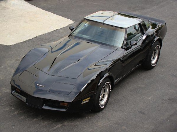 Black 1981 GM Corvette 