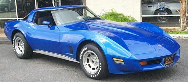 Bright Blue 1981 GM Chevrolet Corvette