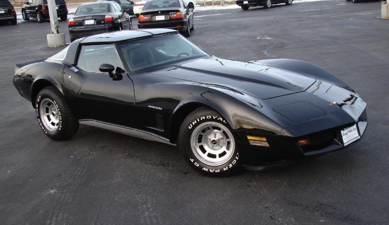 Black 1982 GM Chevrolet Corvette