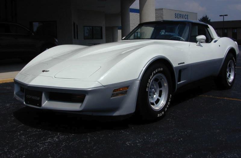 Classic White 1982 GM Chevrolet Corvette with Silver