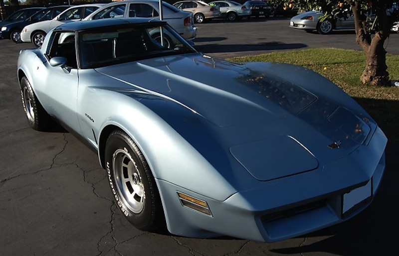 Silver Blue 1982 GM Chevrolet Corvette