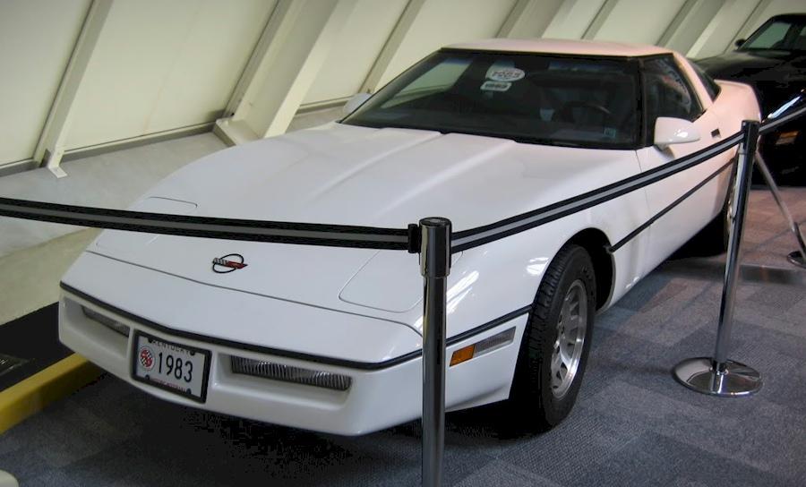 Classic White 1983 GM Chevrolet Corvette Prototype