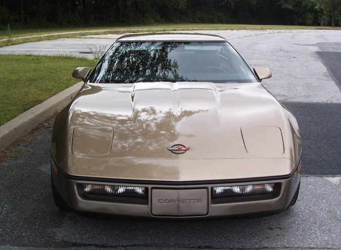 Light Bronze 1984 GM Chevrolet Corvette over Dark Bronze