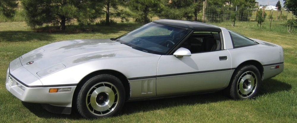 Silver 1985 GM Chevrolet Corvette