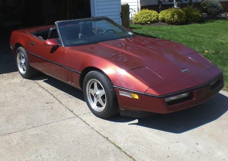Dark Red 1986 GM Chevrolet Corvette