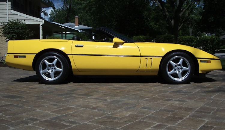 Yellow 1986 GM Chevrolet Corvette