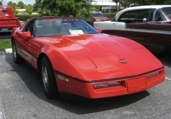 Bright Red 1986 GM Corvette