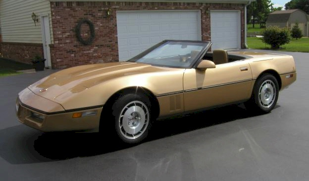 Gold 1986 gm Chevrolet Corvette Convertible