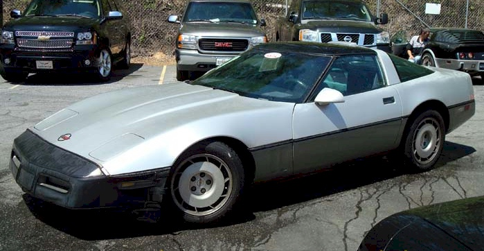 Silver 1986 GM Chevrolet Corvette
