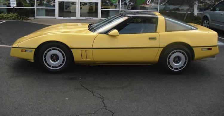 Yellow 1987 GM Chevrolet Corvette
