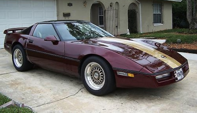 Dark Red 1987 GM Chevrolet Corvette