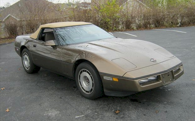 Medium Brown 1987 GM Chevrolet Corvette Convertible