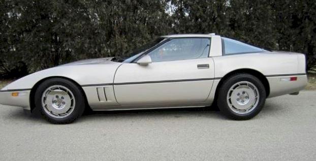 Silver Beige 1987 GM Chevrolet Corvette