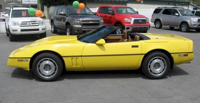 Yellow 1988 GM Chevrolet Corvette