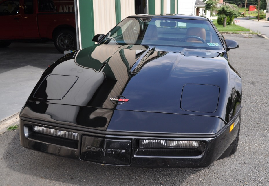 Black 1989 GM Corvette 