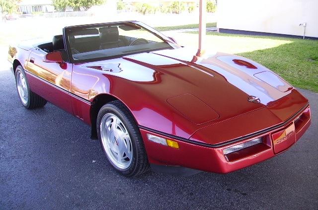 Dark Red 1989 GM Chevrolet Corvette