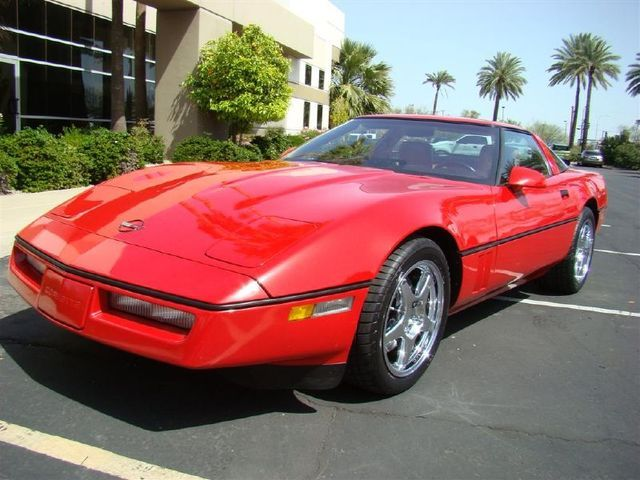 Bright Red 1990 GM Chevrolet Corvette