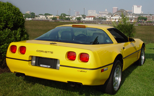 Competition Yellow 1990 GM Chevrolet Corvette ZR1