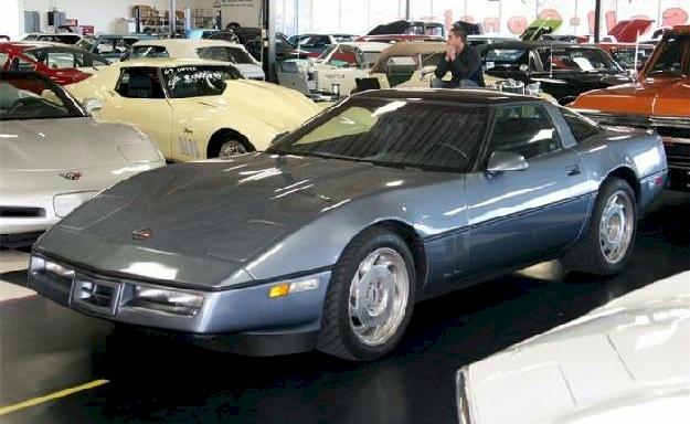 Steel Blue 1990 GM Chevrolet Corvette ZR1