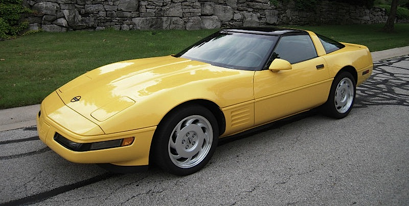 Yellow 1991 GM Chevrolet Corvette