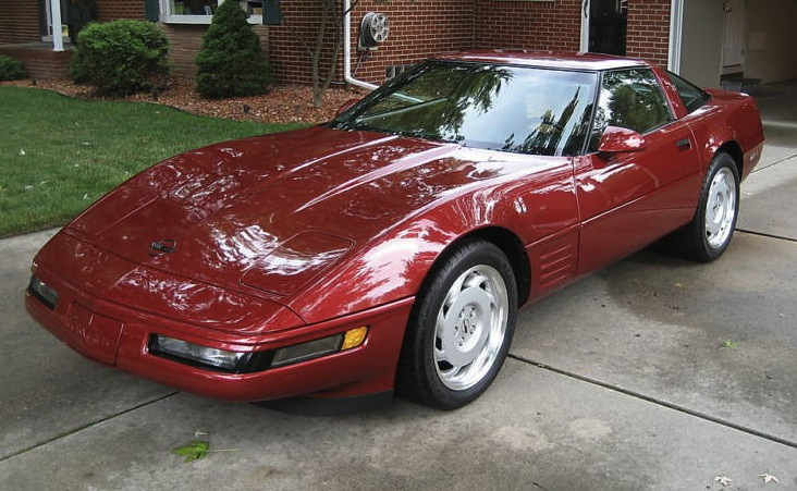 Dark Red 1991 GM Chevrolet Corvette
