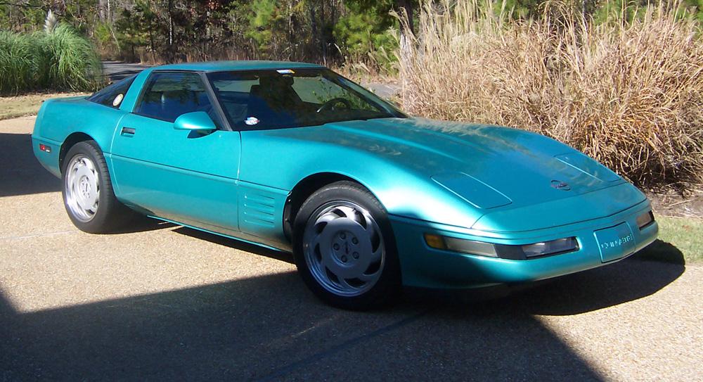 Turquoise 1991 GM Chevrolet Corvette