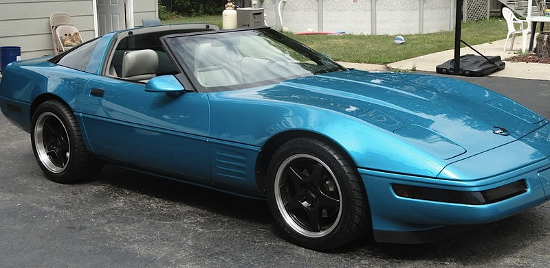 Bright Aqua 1992 GM Chevrolet Corvette