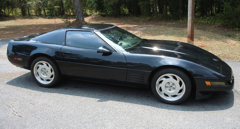 Black 1992 corvette paint cross reference