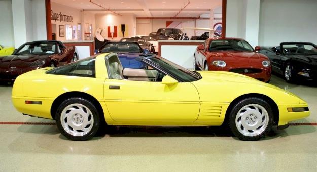 Yellow 1992 GM Chevrolet Corvette