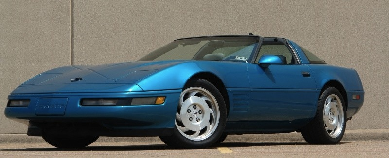 Quasar Blue 1993 GM Chevrolet Corvette
