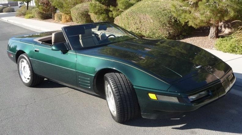 Polo Green 1993 GM Chevrolet Corvette