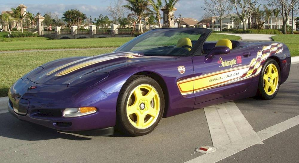 Radar Blue 1998 GM Chevrolet Corvette Indy Pace Car Convertible