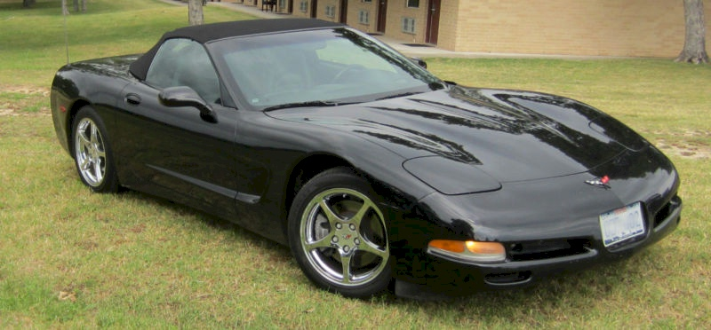 Black 2001 GM Chevrolet Corvette Convertible