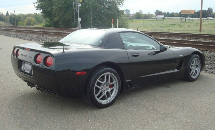 Black 2003 GM Chevrolet Corvette Z06 50th Anniversary