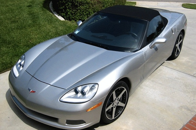 Machine Silver 2007 GM Chevrolet Corvette