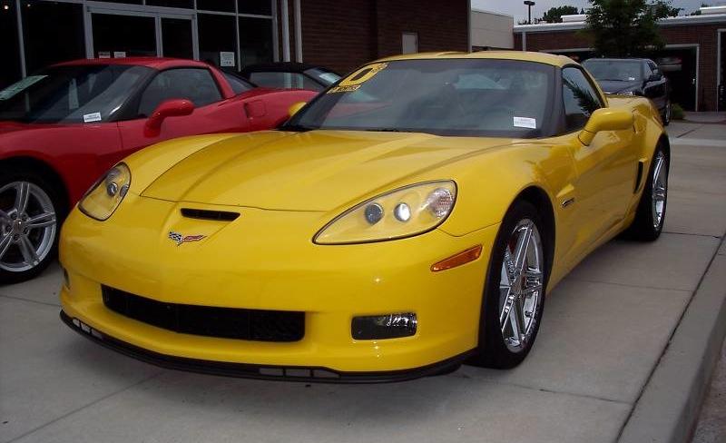 Velocity Yellow 2009 GM Chevrolet Corvette